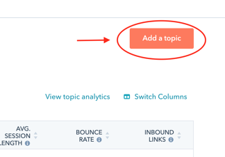 Topic cluster SEO section in HubSpot